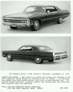 1971 Press ReleaseReg