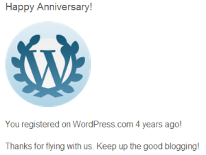 Wordpress anniversary thank you