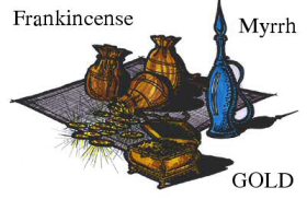 gold frankincense and myrrh
