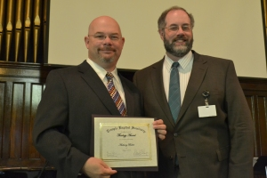 Receiving the Theology Award from Temple Baptist Seminary
