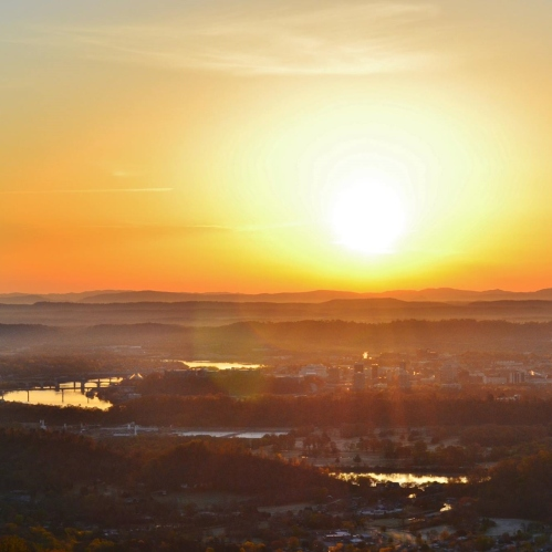 Easter Morning Sunrise over Chattanooga