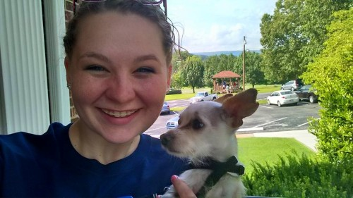 Katie with nephewdog Henry