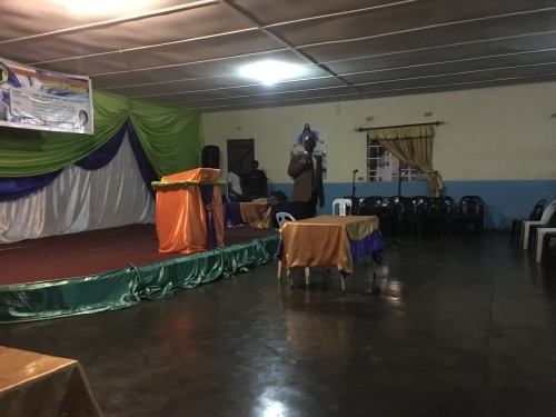 Being introduced at Chinhoyi Baptist.
